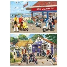Gibsons Mods & Rockers Jigsaw Puzzle (2 X 500 Pieces)