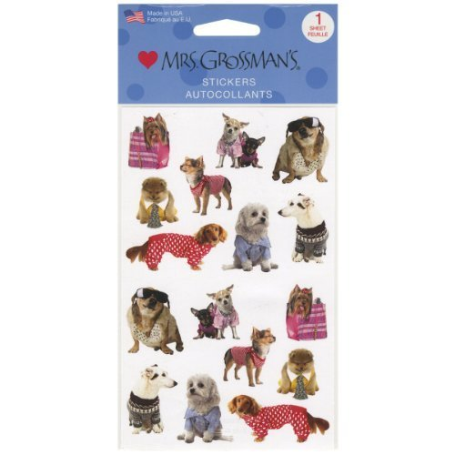 Mrs. Grossman's Stickers-Pampered Dogs