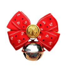 England Style Pet Collar Tie Adjustable Bowknot Cat Dog Collars with Bell-C04