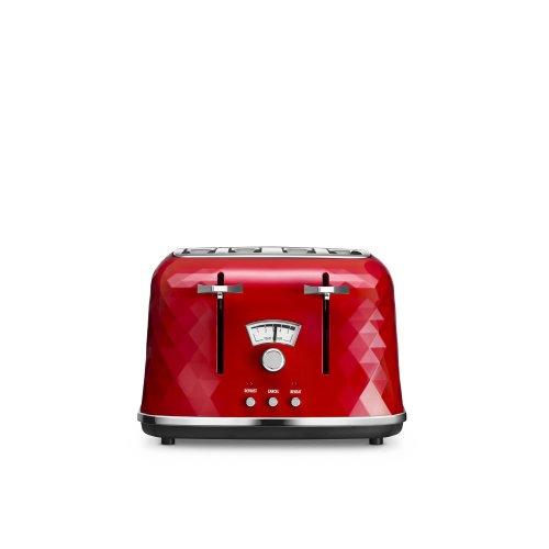 De'Longhi Brillante CTJ4003R 4-Slice Toaster - Red