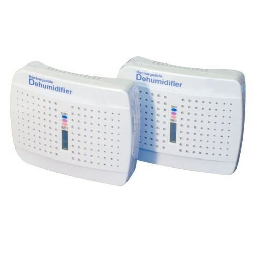Streetwize Twin Pack Car Caravan Boat Home Rechargeable Moisture Dehumidifier
