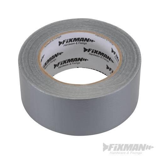 Fixman Heavy Duty Duct Tape 50mm x 50m Silver - Duct Heavy Duty Tape 50m Silver -  duct heavy duty tape fixman 50m silver 50mm 189098