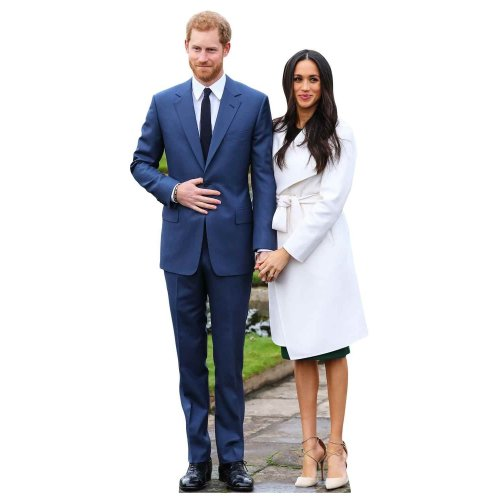 STAR CUTOUTS Royal Couple Prince Harry & Meghan Markle, cardboard, Multi-Colour, 91 x 5 x 42 cm