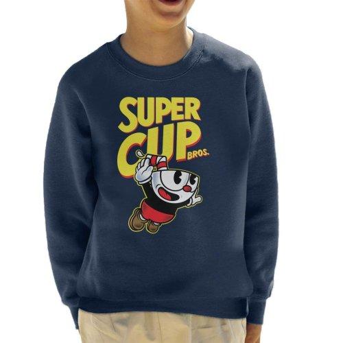 Super Cup Bros Super Mario Cuphead Kid's Sweatshirt