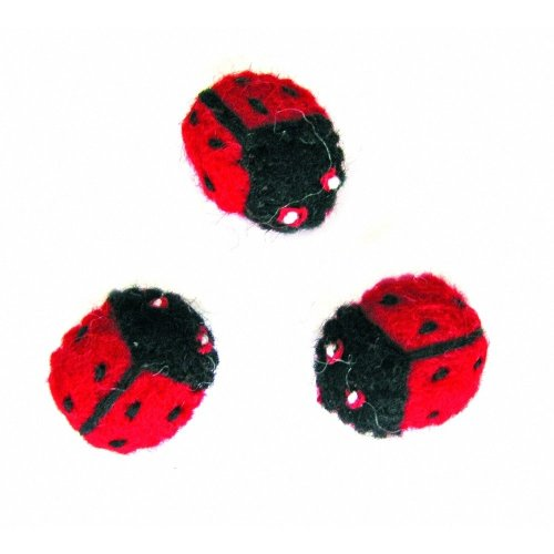 D72-73949 - Dimensions Felting - Wool Ladybirds (set of 3)