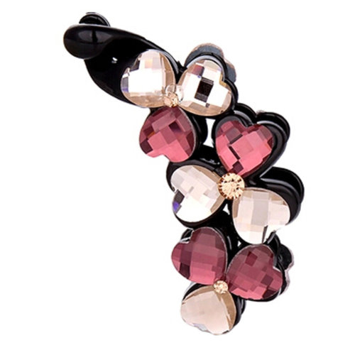Ladies Beautiful Heart Diamond Hair Clips Claw Clip  Hair Comb Clips, NO.3
