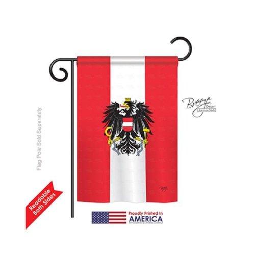 Breeze Decor 58119 Austria 2-Sided Impression Garden Flag - 13 x 18.5 in.
