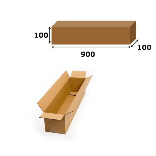 5x Postal Cardboard Box Long Mailing Shipping Carton 900x100x100mm Brown