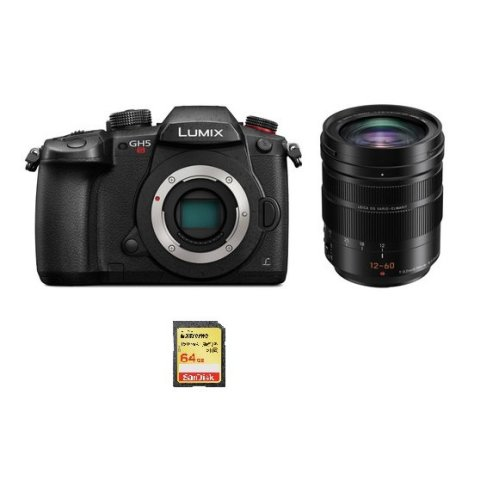 PANASONIC DMC-GH5S Black + 12-60mm F2.8-4.0 ASPH Black + 64GB SD card