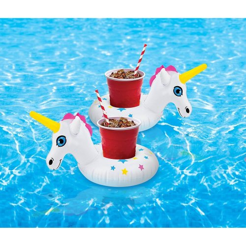 BigMouth Inflatable Star Unicorn Drinks Pool Float Beach Holiday Swimming Water Beach