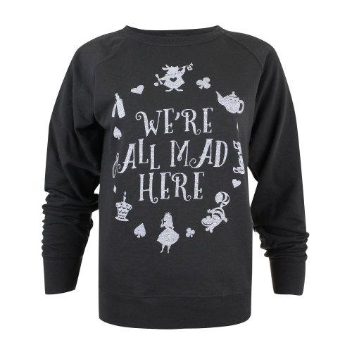 Disney Alice In Wonderland Ladies Jumper Grey