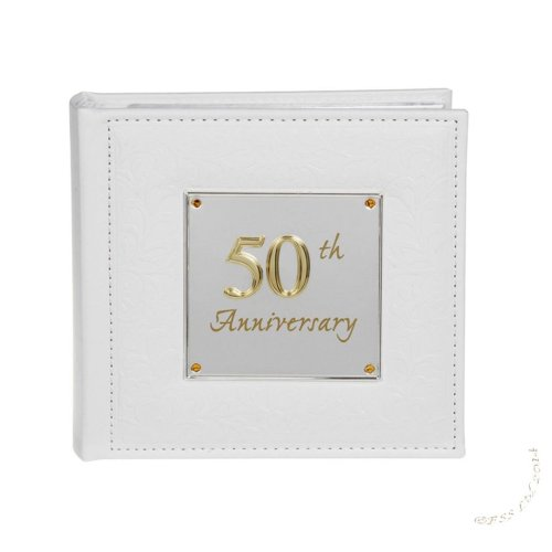 Deluxe 50th Anniversary Photo Album by Shudehill giftware