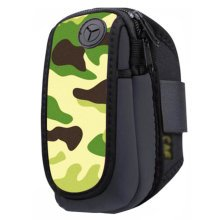 Waterproof Outdoor Sports Armband Cellphone Bag-Jungle Printing