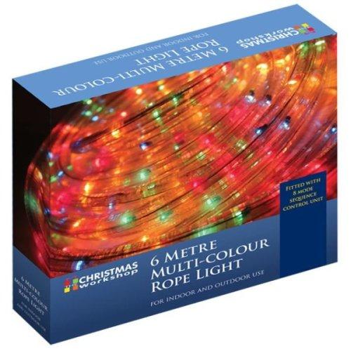 The Christmas Xmas Lights 6M Flashing Rope Light - Multi-Coloured