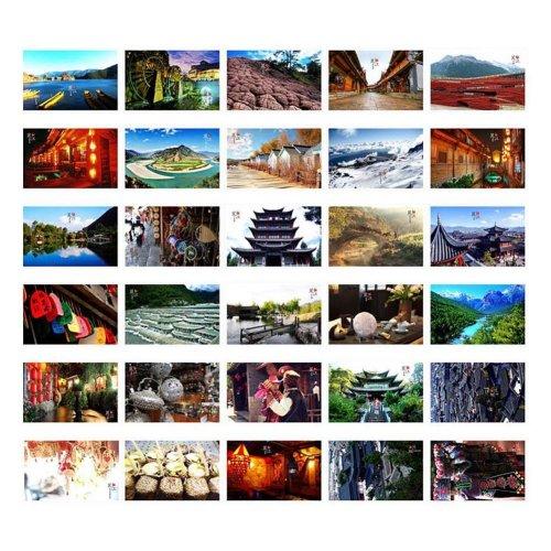 30 PCS Beautiful China Travel Scenery Artistic Retro Photo Postcards- S3