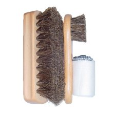Pack Of 2 Shoe-string Brushes And Cloth Set - Shoe String Unisexadult 89968 -  shoe string unisexadult 89968 brushes brown one size