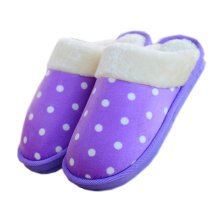 Womens Indoor Warm & Cozy Plush House Slipper, Purple