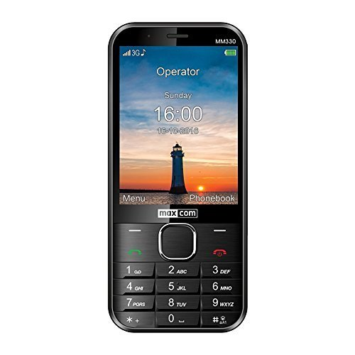 Maxcom Classic MM330 SIM Free Business 3G UK Mobile Phone with Bluetooth - Black