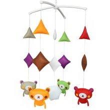 Cute Music Box Toy, Crib Decor Mobile - Baby Musical Mobile [Cartoon Bear]