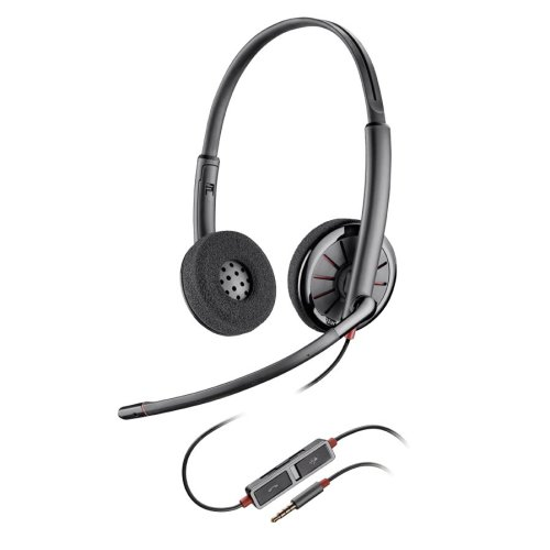 Plantronics Blackwire 225 Binaural Head-band Black