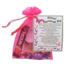 Sister Survival Kit | Novelty Birthday/Christmas Gift for Sister
