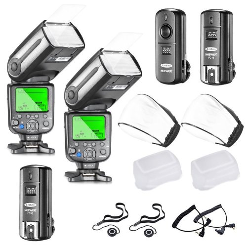 Neewer NW565EX E-TTL LCD Display Slave Flash Speedlite Kit
