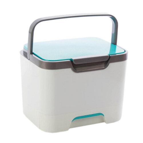 Domestic Portable Medicine Cabinet Medicine Storage Container Storage Box Blue