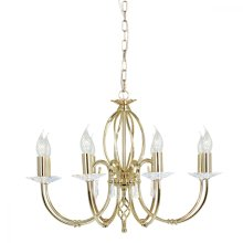 Polished Brass 8lt Chandelier - 8 x 60W E14 by Happy Homewares