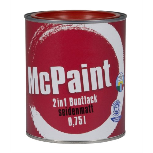 Mcpaint 2in1Colorful Varnish Satin Finish Fire Red 0.75l