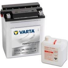 Varta Motorcycle Battery Powersports Freshpack YB14L-A2
