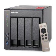 QNAP (TS-451+-2G) 4-Bay High Performance NAS Enclosure (No Drives), Transcoding, Quad Core CPU, 4GB DDR3, 512MB Flash