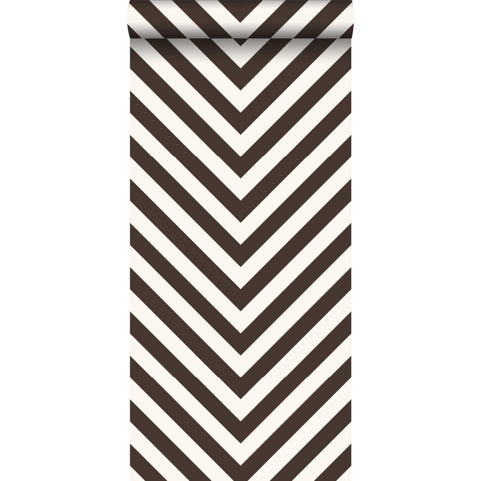 Wallpaper Zigzag Motif Black And White 135420 From Estahome Nl