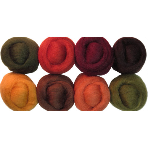 """Wistyria Editions Wool Roving 12"""" .25oz 8/Pkg-Timberland"""
