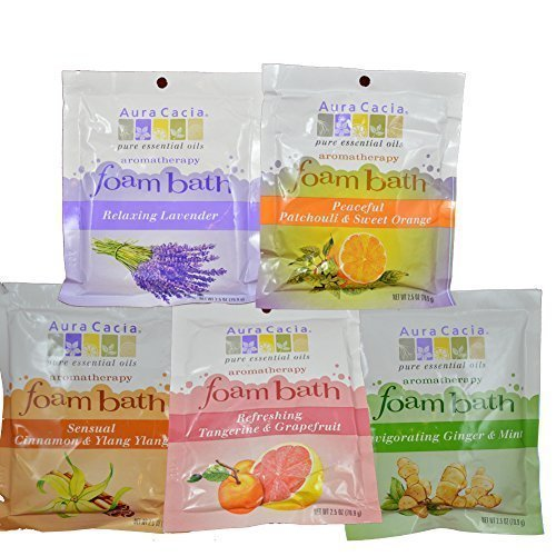 Aura Cacia Foaming Bath Salt Variety Pack 5PK