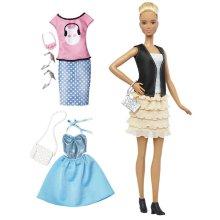 Barbie Fashionistas Doll Leather & Ruffles DTF07
