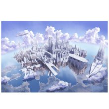 City of Sky, Fashionable Wooden Puzzle For Adult 1000 Piece Jigsaw Puzzle