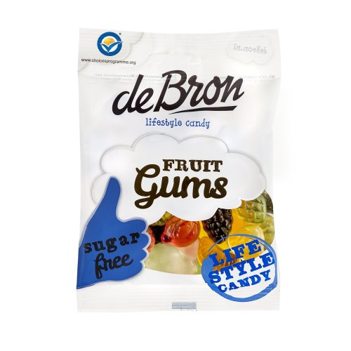 De Bron Sugar Free Fruit Gums (Pack of 6)