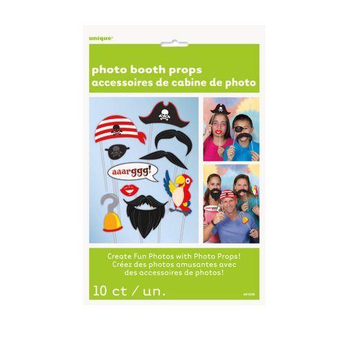 Unique Party Pirate Photo Booth Props (Pack Of 10)
