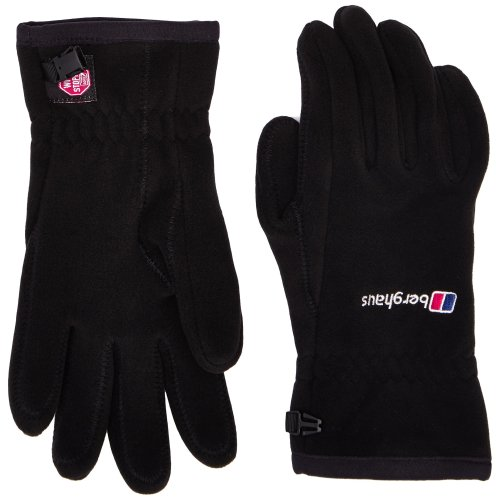Berghaus Windproof Windystopper Adult's Outdoor Fleece Gloves available in Black - Medium