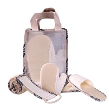 Hand Bag Style Potable Bathing Supplier Set with Towels Shoes Gloves