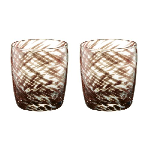 Artland Misty Bronze Double Old Fashioned Tumblers,  Set of 2