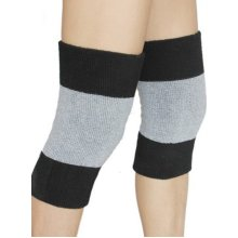 Athletics Warmer Knee Braces For Adult, Black, (Pair)