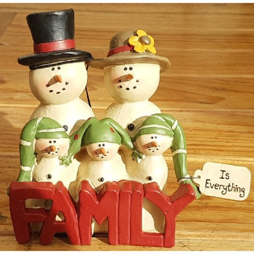 Family is Everything Snowman Christmas Ornament