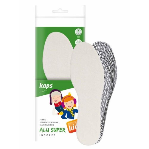 Kaps Alu Super Kids, Winter Shoe Insoles for Children, Insulation and Warmth, Cut to Size, Cut to Fit, All Sizes, Made in Europe, 1 Pair