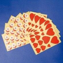 Pbx2550004 - Playbox - Santas and Hearts - Self Adhesive - 88 & 90 Pcs