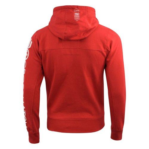 Mens hoodie crosshatch full zip langtry
