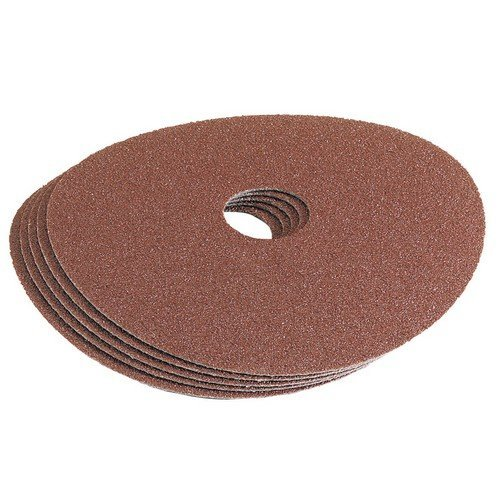 Draper 58618 115mm 80Grit Aluminium Oxide Sanding Disc Pack of 5