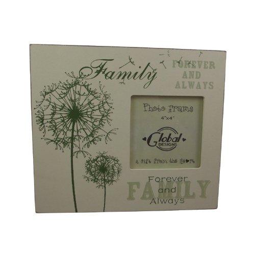Family Forever Photo Frame Cream & Green F0260B