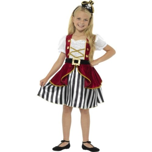 fc70a989 Deluxe Pirate Girls Fancy Dress Caribbean Buccaneer Kids Children Costume  Outfit - pirate costume dress deluxe fancy book girls captain child