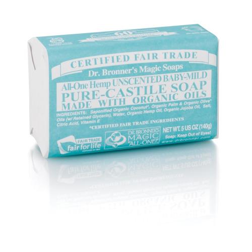 Dr Bronner Org Aloe Vera Baby Mild Soap Bar 140g